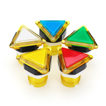 39x39x39 Triangle Direction LED Light Push Button for Arcade Game Console Controller DIY