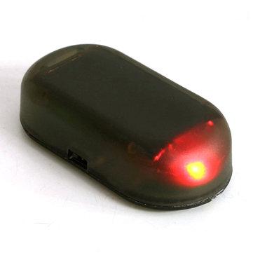 Car Solar Power 1.2V Red Led Alarm Anti Theft Warning Light Lamp