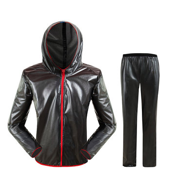 Motorcycle Unisex Riding Rain Coat Suit Skinsuit Ultra Thin Breathable Portable Rain Coat Suit