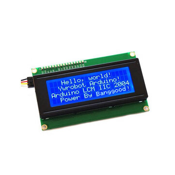 3Pcs Geekcreit® IIC I2C 2004 204 20 x 4 Character LCD Display Module Blue For Arduino
