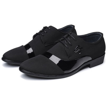 Men Breathable Comfy Flax Business Formal Shoes