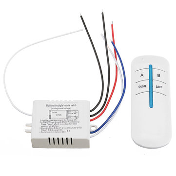 AC 110V/220V Two Way ON/OFF Digital Switch Button Light Wireless Remote Control