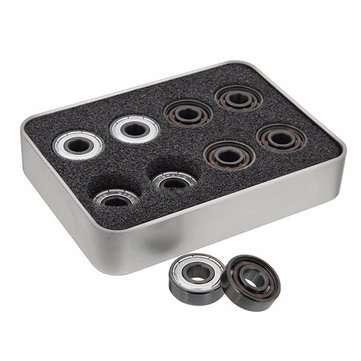 16pcs 608 8.5x21x7mm Skate Roller Inline Professional Ceramic Bearings With 6 White Beads