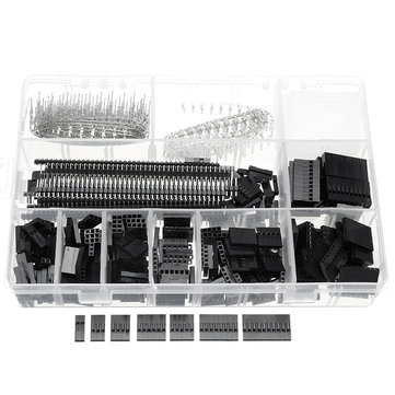 Excellway® TC10 670Pcs Wire Jumper Header Connectors M/F Crimp Pins Terminal For Dupont
