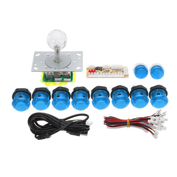 PC USB Joystick Controller Push Button DIY Set Kit for Arcade Game