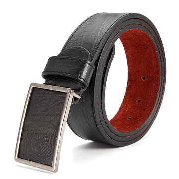 115cm Mens Business Casual Alloy Tablet Slide Buckle Waistband Strap Vogue Leather Belt