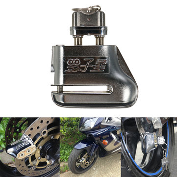 Dual Key Disc Brake Anti Theft Lock Safety For Motorcycle Bike Scooter