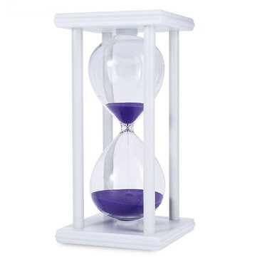 60 Minutes Hourglass Sand Timer For Office School Modern Wooden Hour Glass Sandglass Sand Clock