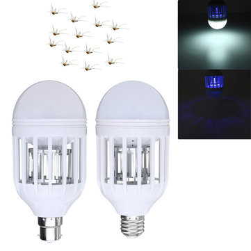 ZX E27 B22 15W Anti-Mosquito Electronic Insect Fly Zapper LED Light Bulb AC220V AC110V