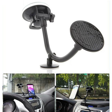 2 IN 1Car Dashboard Wind Shield Phone Holder PU Material Seamless Adsorption