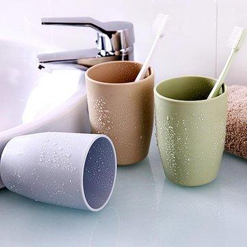 Honana Home Bathroom 350ml Simple Design Couple PP Material Tooth Mug Brush Holder Washing Tooth Cup
