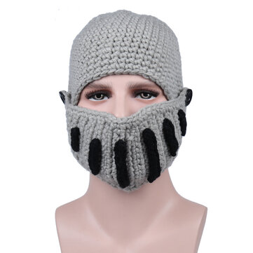 Outdoor Cycling Rome Knight Knitting Hat Winter Ski Mask Cap Manual Knitting Men Hats