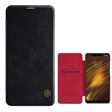 NILLKIN Flip Shockproof Card Holder Full Cover Protective Case for Xiaomi Pocophone F1