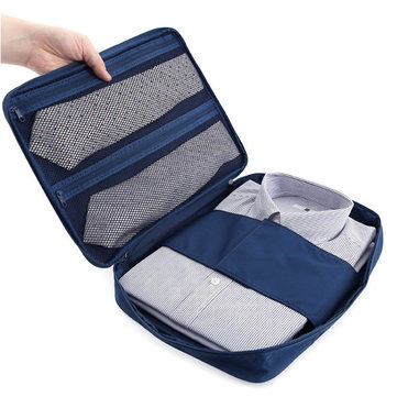 Portable Shirt and Ties Storage Bags Organizer Wrinkle Free Shirt Travel Packing Clothes Holder