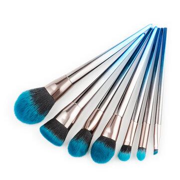 7Pcs Makeup Brushes Diamond Foundation Cosmetic Eyeshadow Eyeliner Lip Brush Set