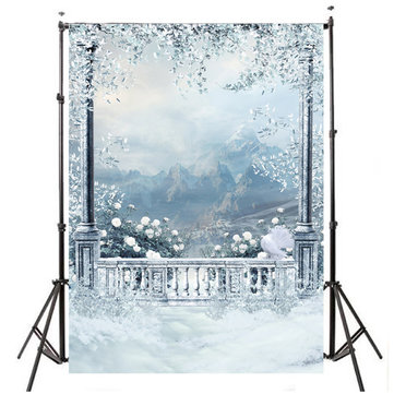 3x5ft 0.9x1.5m Vinyl Outdoor Snow Studio Prop Photography Background