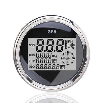 85mm GPS Waterproof Digital Speedometer Odometer Gauge