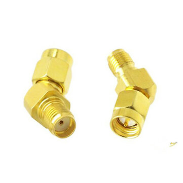 2PCS RJX 45/135 Degree SMA Male to SMA Female Antenna Adpater Connector For FPV Goggle