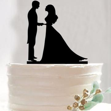 Bride Groom Wedding Cake Topper Happy Birthday Party Cake Toppers Decoration Supplies