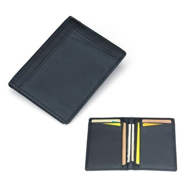 Men PU Leather Slim Thin Credit Card Holder Mini Money Wallet ID Case Wallet