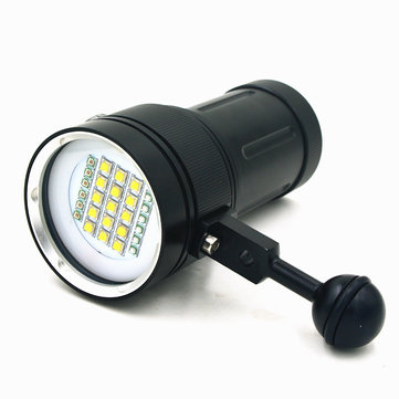 A15 Underwater Diving 15xCree XML2 White Light 6xUV Light 6xRed Light Dive Video Photography Flashlight