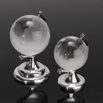クリスタルガラスは、世界グローブペーパーウェイトデスクの装飾を曇らせた