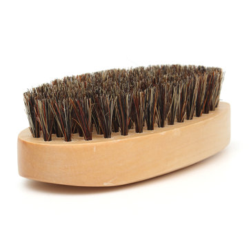 Wood Handle Boar Bristle Beard Taming Mustache Brush Smooth Style Hair Comb