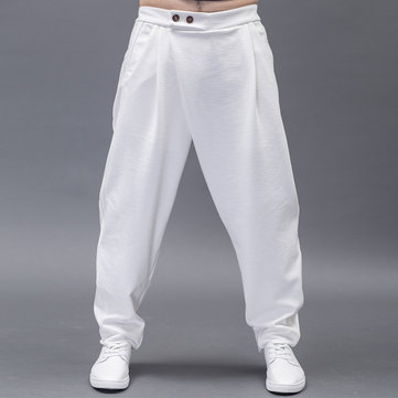 Men's Chinese Style Loose Knitting Casual Pants
