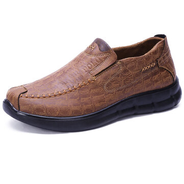 Comfy Sole Casual Slip On Soft Microfiber Oxfords