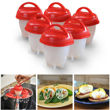 6PCS Honana Egglettes Maker Egg Cooker Hard Boiled Eggs without the Shell Eggies Egglets Egg Tools