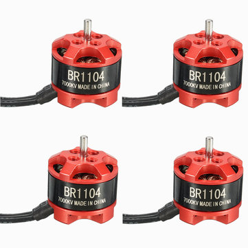 4 X Racerstar Racing Edition 1104 BR1104 7000KV 1-2S Brushless Motor for 100 120 150 for RC Drone FPV Racing