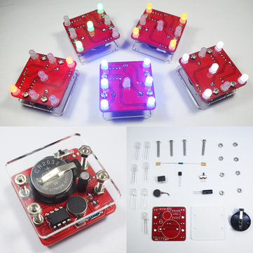 3Pcs Geekcreit® DIY Shaking Red LED Dice Kit With Small Vibration Motor