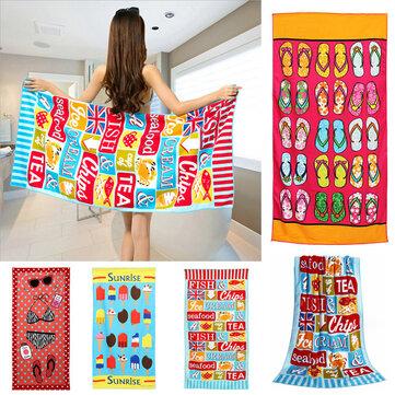70x150cm Colorful Cartoon Printing Quick Dry Beach Towels Absorbent Microfiber Bath Towel