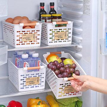 플라스틱 주방 냉장고 바구니 보관함 선반 냉장고 선반 홀더 욕실 데스크탑 보관함