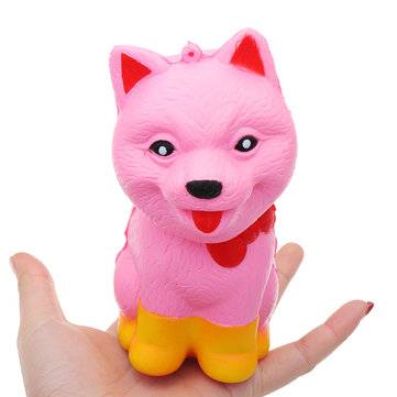 Squishy Wolf Puppy Dog 13CM Super Slow Rising Cream Scented Phone Strap Toy Gift Decor