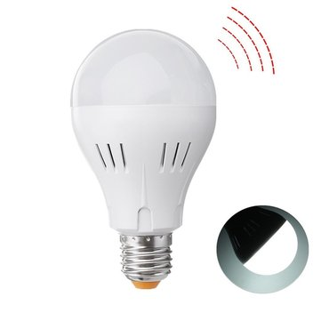 E27 A60 5W 320LM Pure White Natural White Microwave Radar Sensor Emergency LED Light Bulb AC85-265V