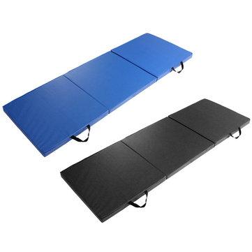 120 centímetros * 240 centímetros * 5cm Yoga esteiras de exercício mat ginástica dobráveis ginástica de alongamento azul preto