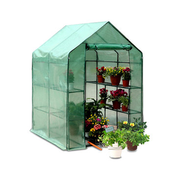 PE Cover Green House Plant Warm Shelf Shed Apex Roof Garden Greenhouse Protector