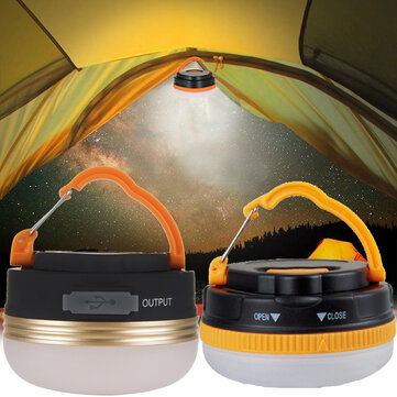 3W Camping Light USB Rechargeable Tent Lamp Outdoor Portable Emergency LED Lantern