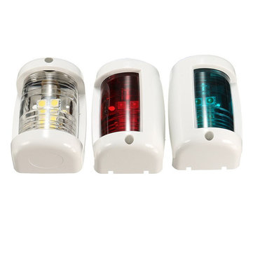3pcs 1W Navigation Signal Light For Mini Marine Boat Yacht Masthead Starboard Port