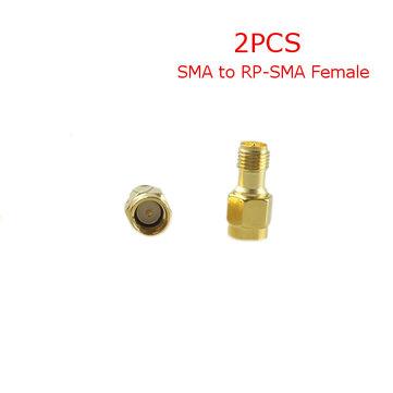 2PCS 5.8G FPV Antenna Gain Connettore Adattatore SMA a RP-SMA Femmina