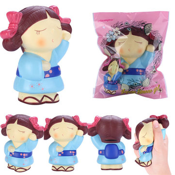 Vlampo Squishy Japan Kimono Girl Slow Rising Original Packaging Collection Gift Decor Toy