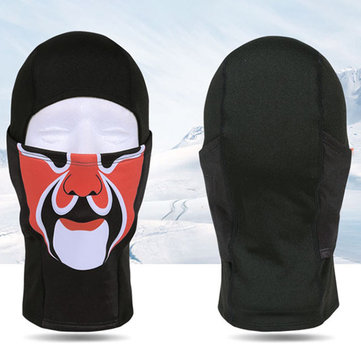 Unisex Winter Windproof Black Face Mask Hat Sports Warm Cap