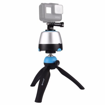 PULUZ PU362 Mini Tripod Time Lapse 360 Degree Rotation Panoramic Tripod Head Remote for Camera