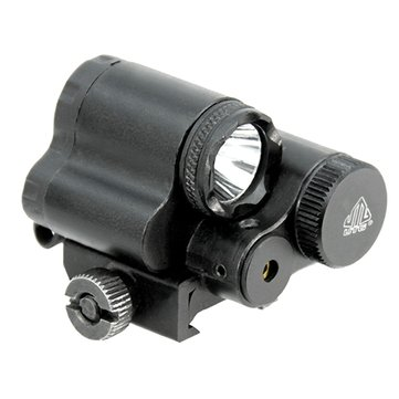 Compact Aiming Red Dot Laser Sight LED Light 2 in 1 Combo Tactical Picatinny Rail Mount