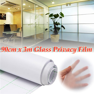 90cm 300cm Frosted Window Tint Glass Privacy PVC Film For DIY Home Office Store