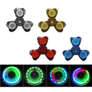 Tri Spinner Sided LED Rotating Fidget Hand Spinner ADHD Autism Reduce Stress Focus Attention Toys