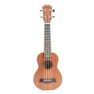 Zebra 21 Inch 15 Frets Soprano 4 Strings Ukulele With Open Style String Button
