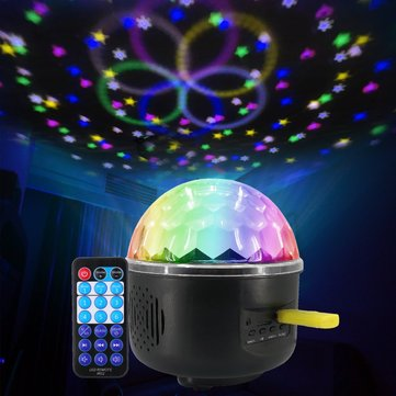 Remote Control Crystal Magic Ball 6 LED Stage Light Party Disco DJ Club KTV