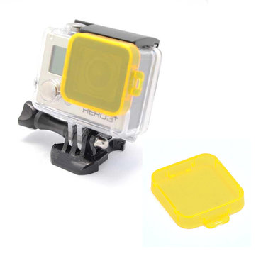 Yellow Under Water Sea Dive Color Camera Filter for Gopro HD Hero 3 Plus